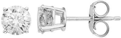 14k White Gold 1 Carat T.W. Diamond Stud Earrings
