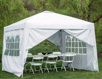 10x10' Pop Up Canopy Tent w/ Detachable Window Walls