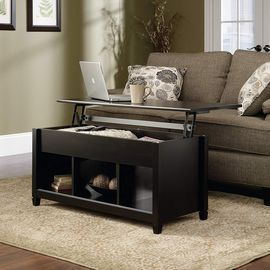 Sauder Edge Water Lift Top Coffee Table - Black