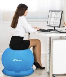 Ball Chair - Exercise Stability Yoga Ball with Base