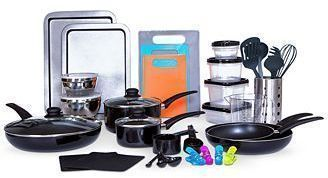 Sedona Kitchen-In-A-Box 64-Pc. Cookware & Food Storage Set