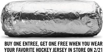 Chipotle Mexican Grill - B1G1 Free Entree on 2/21!