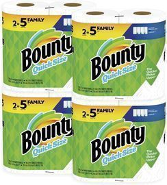 Bounty Quick-Size Paper Towels Family Roll 8-Pack