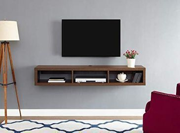Martin Furniture Floating TV Console, 60, Columbian Walnut