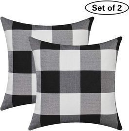 Burlap Farmhouse Throw Pillow Covers