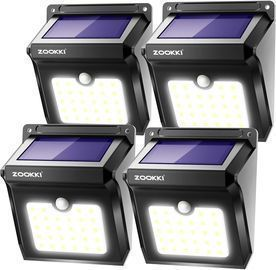 DEAD: ZOOKKI Solar Outdoor Lights 4pk