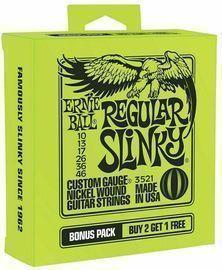 Ernie Ball Regular Electric 10-46 Guitar Strings 3-Pack