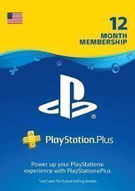 1yr Sony PlayStation Plus Membership (Digital Delivery)