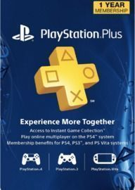 1yr Sony PlayStation Plus Membership (Digital Delivery)