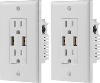 Dynex 2.4A USB Wall Outlet (2-Pack)