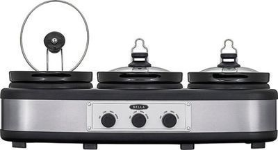 Bella 3 x 2.5 Quart Triple Slow Cooker