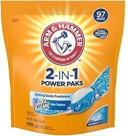 Arm & Hammer 2-IN-1 Laundry Detergent Power Paks, 97 Count
