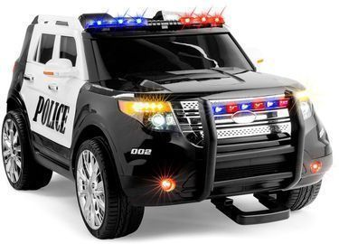 12V Kids Police Ride-On SUV Car w/ 2 Speeds, Lights & Siren