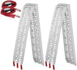 SmileMart 7.5-Foot Folding Aluminum Loading Ramp 2-Pack