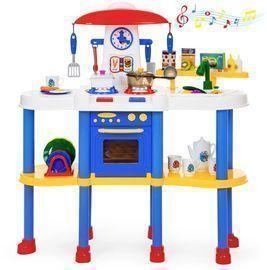 Kids Pretend Kitchen Cooking Play Set w/ 67 Accessories