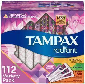 Amazon - Extra $4 Off Tampax Pearl, Radiant, or PURE Tampons