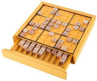 Wooden Sudoku Board Game Set