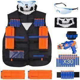 Tactical Vest Kit + Foam Darts for Kids