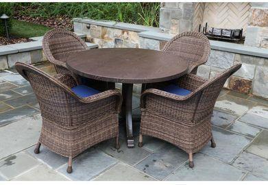 Woodington 5-Piece Wicker Outdoor Dining Set