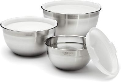 Cuisinart CTG-00-SMB Stainless Steel Mixing Bowls, Set of 3