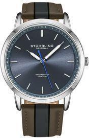 Stuhrling Men's Miyota Japan Leather 44mm Watch