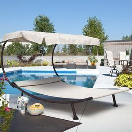 Coral Coast Del Rey Double Chaise Lounge w/ Canopy