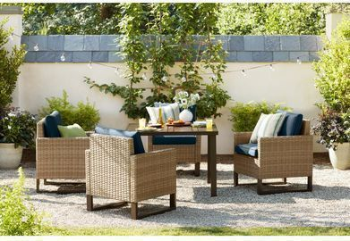 Hampton Bay Park Heights 5pc Wicker Outdoor Dining Set
