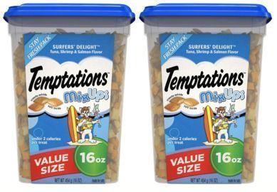 Temptations MixUps Crunchy and Soft Cat Treats x 2