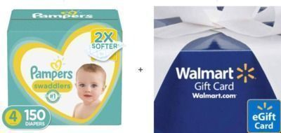 Walmart - $15 Off 2x Pampers Swaddlers + $20 Walmart Gift Card