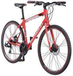 Schwinn Men's Kempo 21 Speed Hybrid Bike, Red