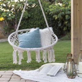 Handwoven Cotton Macrame Hammock Hanging Chair Swing
