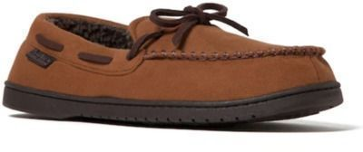 Dearfoams Microsuede Whipstitch Trim Moccasin Slippers