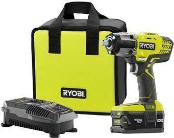 Ryobi 18V ONE+ Li-Ion Cordless 1/2 Impact Wrench Kit