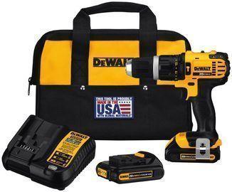 DEWALT 20-Volt MAX Cordless Compact Hammer Drill/Driver Ki