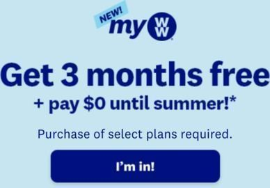 Weight Watchers - Get 3 Months Free + Pay $0 Until Summer