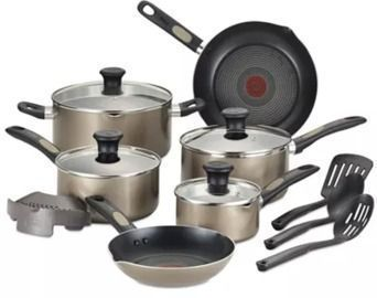 T-Fal Cook-N-Strain 14-Pc. Non-Stick Cookware Set