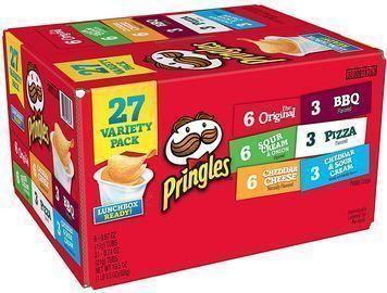 Pringles Snack Stacks Potato Crisps Chips 27-Pack