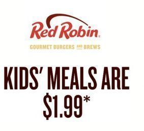 Red Robin - Kids' Meals are $1.99!
