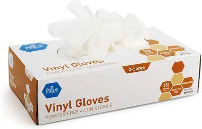 Medpride Vinyl Gloves 100-Pack - Size Medium