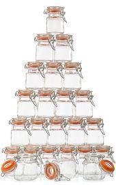 California Home Goods 24 Pack 3.4Oz Glass Spice Jars