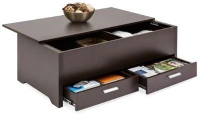 Modern Coffee Table w/ Storage Compartments