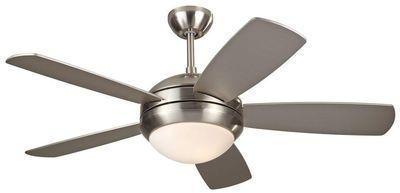 Monte Carlo Discus II 44in. Indoor Brushed Steel Ceiling Fan