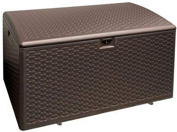 Java 73-Gallon Resin Wicker Outdoor Storage Box