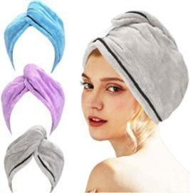 Microfiber Hair Towel - 3 Pack