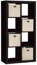 8 Cube Organizer With 4 Fabric Bins, Black