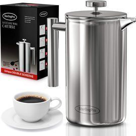 SterlingPro French Press Coffee Maker, 1L