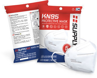 In-Stock! 5PK KN95 Protective Face Mask CE/ECM Certified