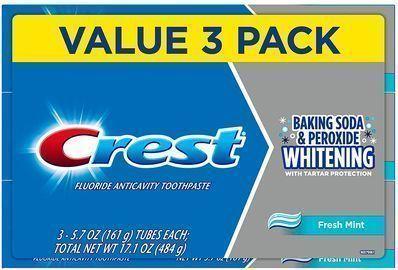 Crest Whitening Baking Soda & Peroxide Toothpaste, 3pk