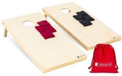 4x2ft Full Size Solid Wood Cornhole Set w/ 8 Bean Bags, Carry Bag