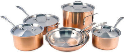 Calphalon T10 Tri-Ply Copper 10 Pc. Cookware Set